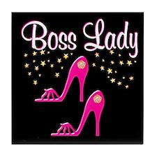 FOXY BOSS LADY Tile Coaster