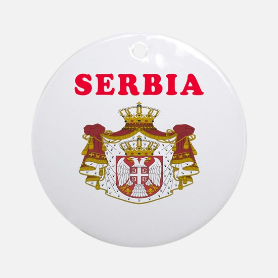 Serbia Coat Of Arms Designs Ornament (Round)