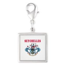Seychelles Coat Of Arms Designs Silver Square Char