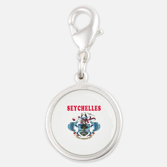 Seychelles Coat Of Arms Designs Silver Round Charm