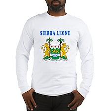 Sierra Leone Coat Of Arms Designs Long Sleeve T-Sh