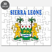 Sierra Leone Coat Of Arms Designs Puzzle