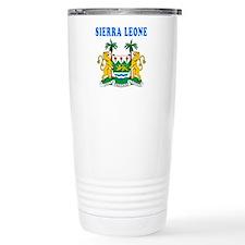 Sierra Leone Coat Of Arms Designs Travel Mug