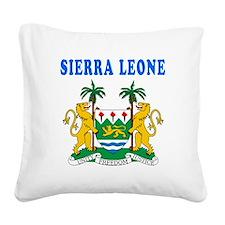 Sierra Leone Coat Of Arms Designs Square Canvas Pi
