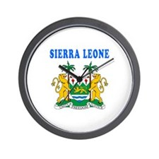 Sierra Leone Coat Of Arms Designs Wall Clock
