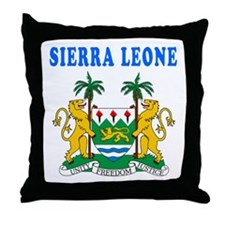 Sierra Leone Coat Of Arms Designs Throw Pillow