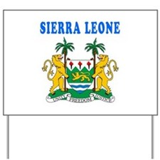 Sierra Leone Coat Of Arms Designs Yard Sign