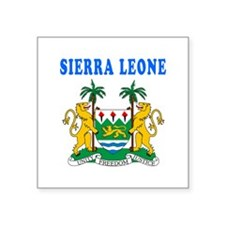 Sierra Leone Coat Of Arms Designs Square Sticker 3