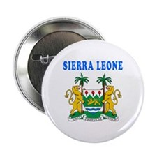 """Sierra Leone Coat Of Arms Designs 2.25"""" Button (10"""
