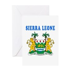 Sierra Leone Coat Of Arms Designs Greeting Card