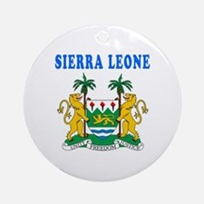Sierra Leone Coat Of Arms Designs Ornament (Round)