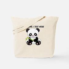Custom Panda With Bamboo Tote Bag