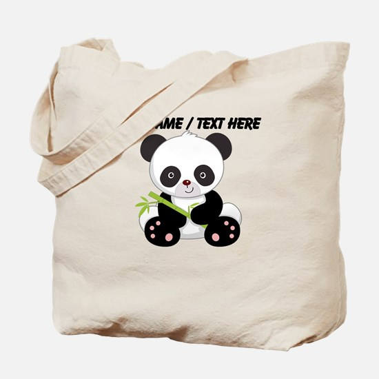 Custom Panda With Bamboo Tote Bag