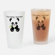 Custom Panda With Bamboo Drinking Glass