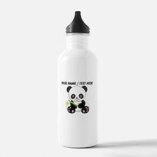 Custom Panda With Bamboo Water Bottle