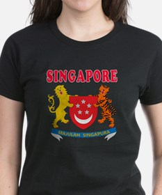Singapore Coat Of Arms Designs Tee