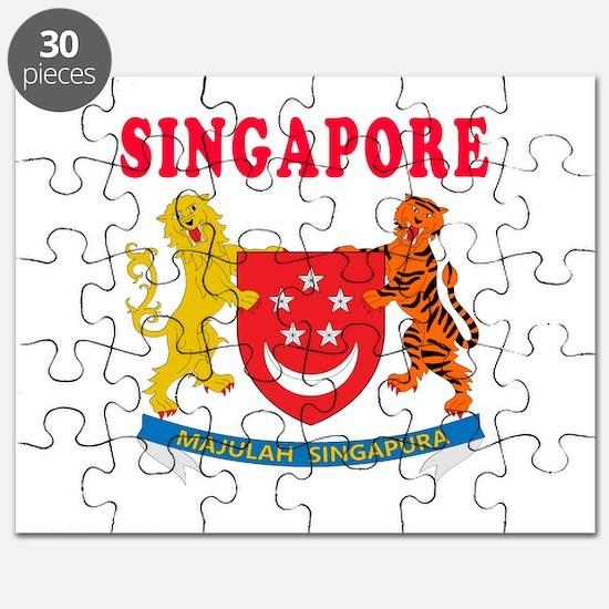 Singapore Coat Of Arms Designs Puzzle