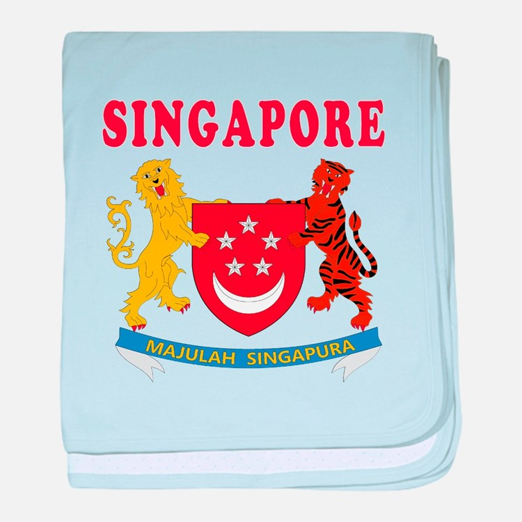 Singapore Coat Of Arms Designs baby blanket