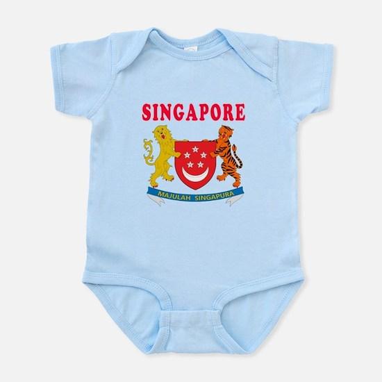 Singapore Coat Of Arms Designs Infant Bodysuit