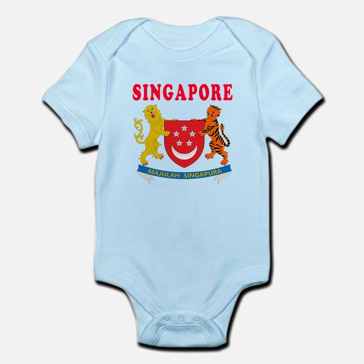 Singapore Coat Of Arms Designs Onesie