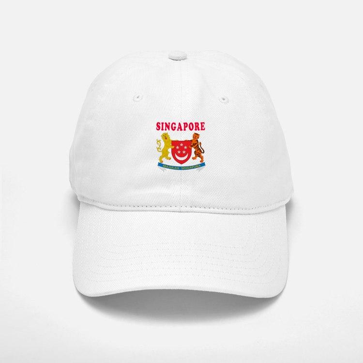 Singapore Coat Of Arms Designs Baseball Baseball Cap