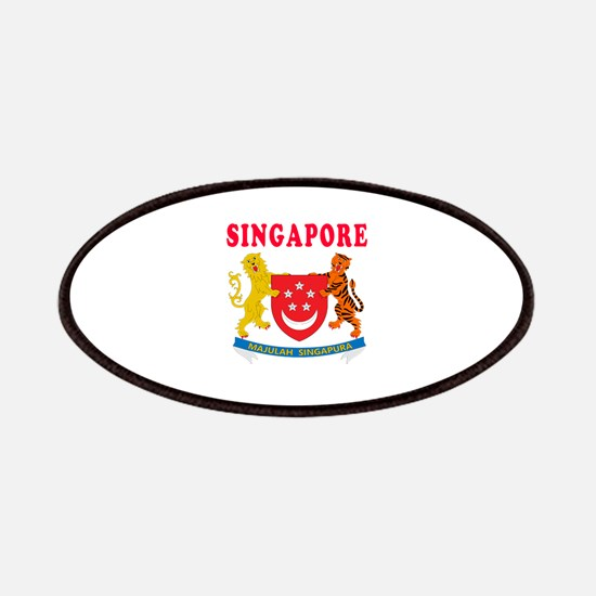 Singapore Coat Of Arms Designs Patches