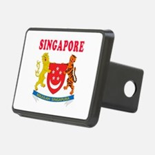 Singapore Coat Of Arms Designs Hitch Cover