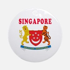 Singapore Coat Of Arms Designs Ornament (Round)