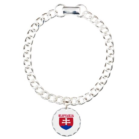Slovakia Coat Of Arms Designs Charm Bracelet, One
