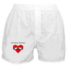 Custom Cute Pandas Heart Boxer Shorts