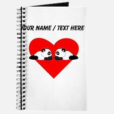 Custom Cute Pandas Heart Journal
