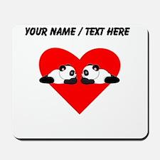 Custom Cute Pandas Heart Mousepad
