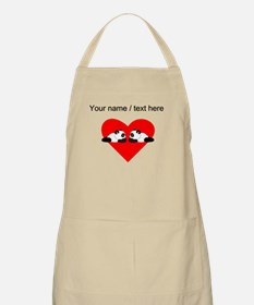 Custom Cute Pandas Heart Apron