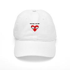 Custom Panda Boy And Girl Heart Baseball Baseball Cap