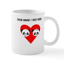 Custom Panda Boy And Girl Heart Mug