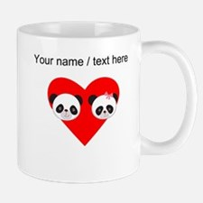 Custom Panda Boy And Girl Heart Mug