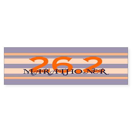 Marathoner Personal Best Sticker (Bumper)