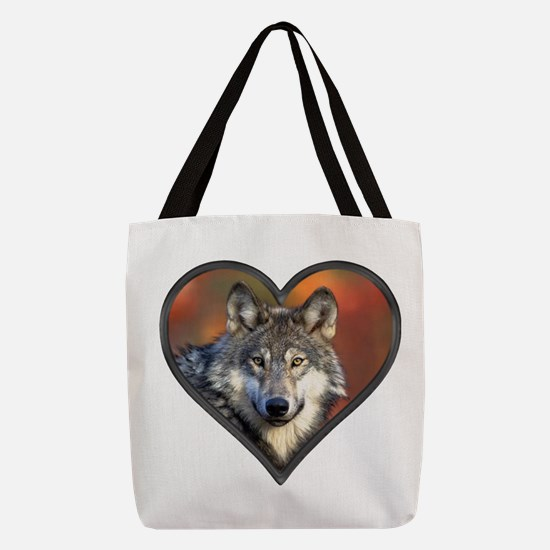 Wolf Heart Polyester Tote Bag