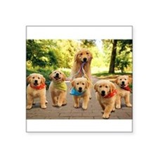 Mommy Walking Puppies Sticker
