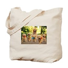 Mommy Walking Puppies Tote Bag