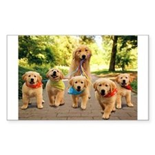 Mommy Walking Puppies Decal