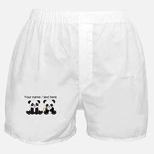 Custom Cute Pandas Boxer Shorts