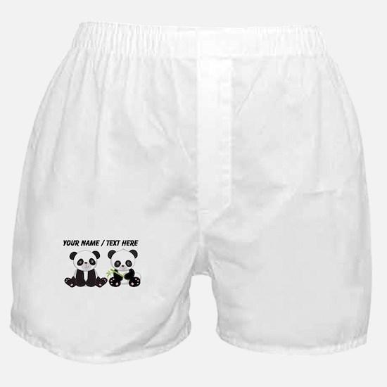 Custom Cute Pandas Boxer Shorts