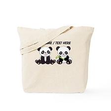 Custom Cute Pandas Tote Bag