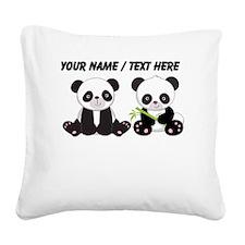 Custom Cute Pandas Square Canvas Pillow