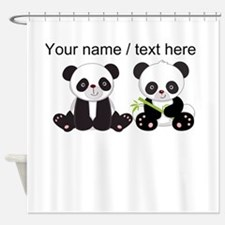 Custom Cute Pandas Shower Curtain