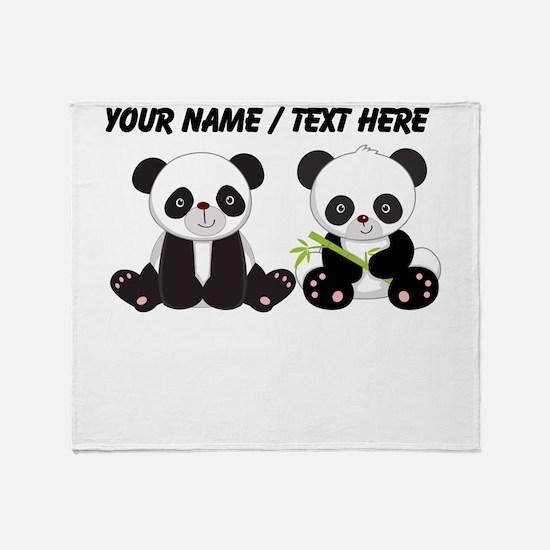 Custom Cute Pandas Throw Blanket