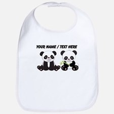 Custom Cute Pandas Bib