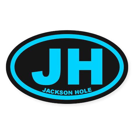 Jackson Hole WY Sticker (Oval)