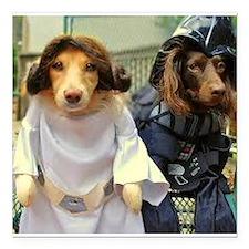 Princess Leia and Darth Vader Doggies Square Car M